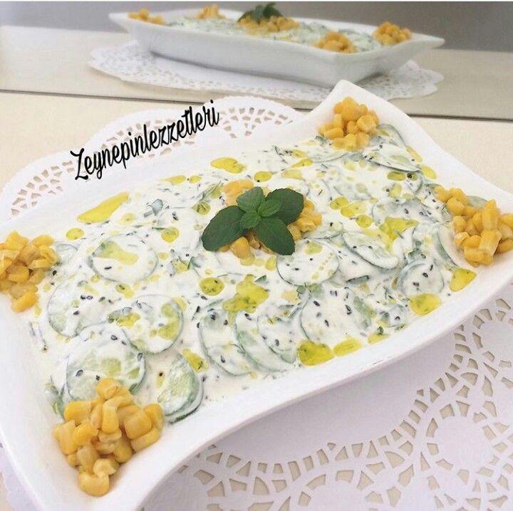 Çörek otlu salatalık mezesi