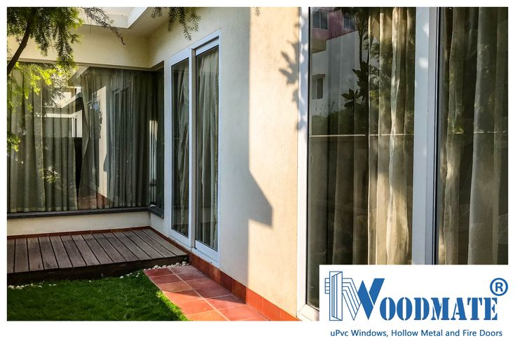 Sliding Windows opening out onto an alcove garden. A great place to get some sun and fresh air. Add #WoodMateWindows to your homes.  #Garden #uPVCWindows #upvcdoors  #upvcdoorsandwindows #Doors #windows #beautifulwindows #beautifuldoors #Beautifulhomes #interiors #architecture #Bangalore #DeccanWoodMate