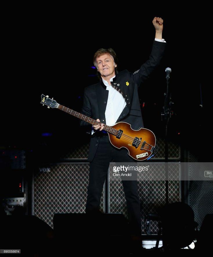 Paul McCartney performs at Qudos Bank Arena on December 11, 2017 in Sydney, Australia.