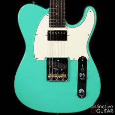 Suhr Classic T Antique Roasted Recovered Sinker Maple #17 Seafoam Green