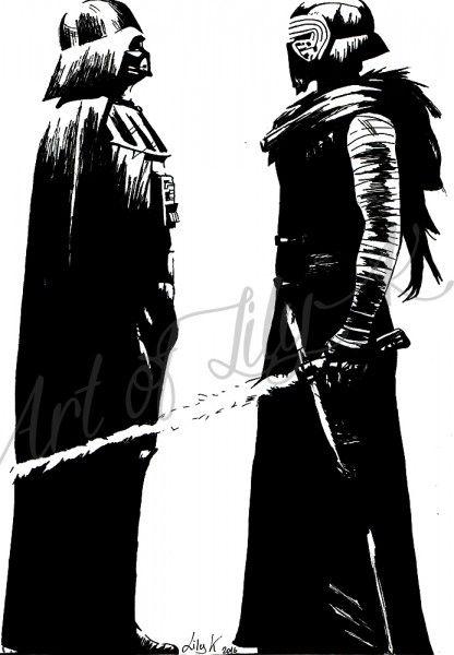 Pop Art Kylo Ren and Darth Vader