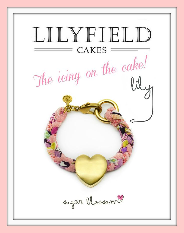 The icing on the cake!! Include the Lily bracelet by sugar blossom design with your #Lilyfieldcake purchase!! Opening May 1st 2014 #sugarblossomdesign #lilyfield #lily #giftidea #unique