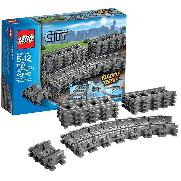 LEGO City 7499 Flexible Tracks Set Durable Product 8 Straight 16 Flexible Tracks #LEGO