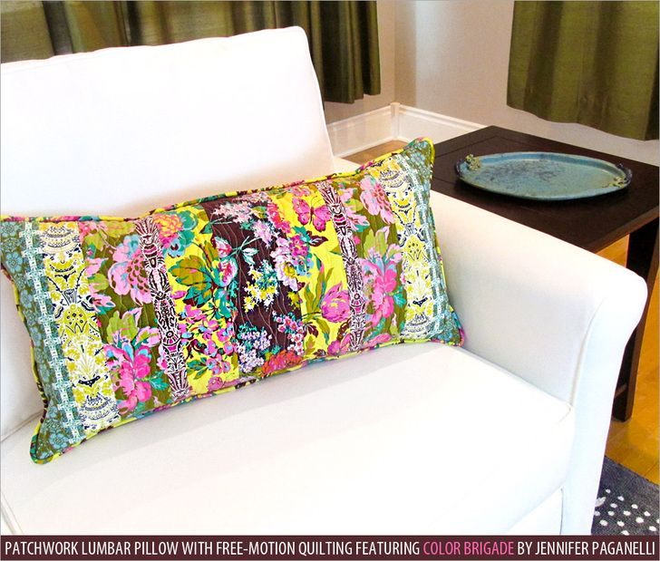 Patchwork Lumbar Pillow with Free-Motion Quilting   Sew4Home & 361 best Pillows \u0026 Throws images on Pinterest   Sewing ideas ... pillowsntoast.com