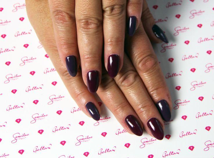 083 i 014 #violet #purple #nails #semilac # atumn