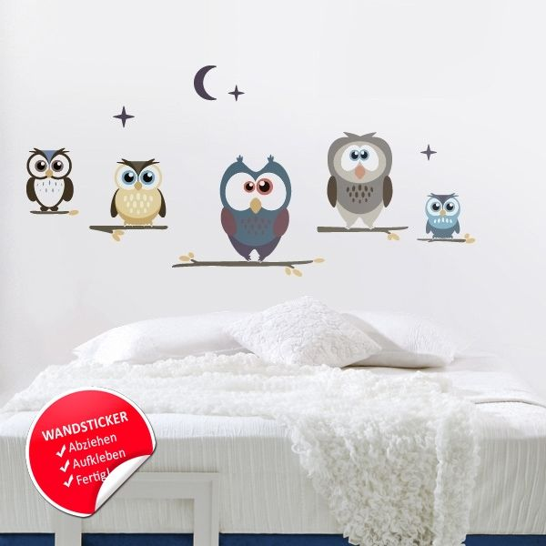 Superb Wandsticker Eulen Kinderzimmer Wandtattoo