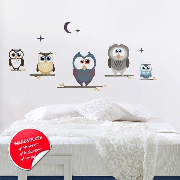 Babyzimmer deko eule  Wandtattoo Babyzimmer Eule - Wohndesign Ideen