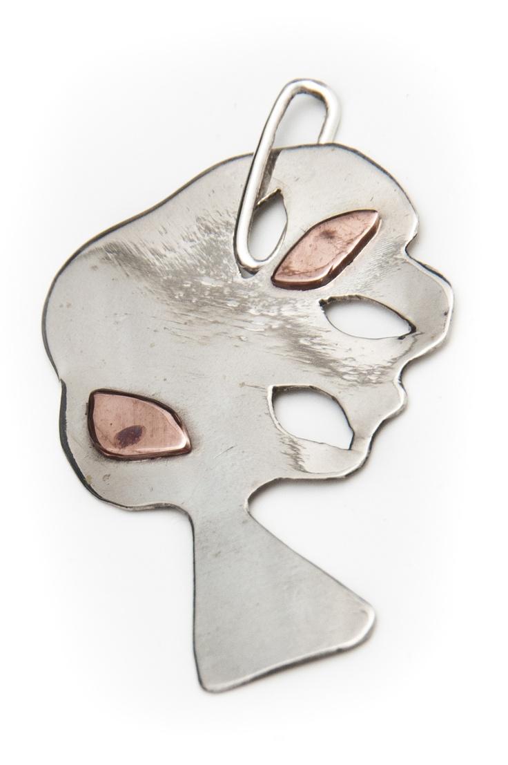 Liana Salagean  http://www.designercraft.eu/pendants/copper-and-silver-pendant  45.30€  Copper and Silver Pendant  Made of: 925 sterling silver and copper.