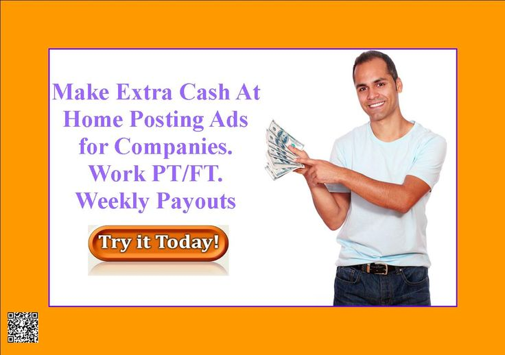 Make Extra Cash At Home Posting Ads for Companies. Work PT/FT. Weekly Payouts. Sign up Today http://6abd0-ycrgfs9z1dkamr27qz0u.hop.clickbank.net/?tid=ATKNP1023