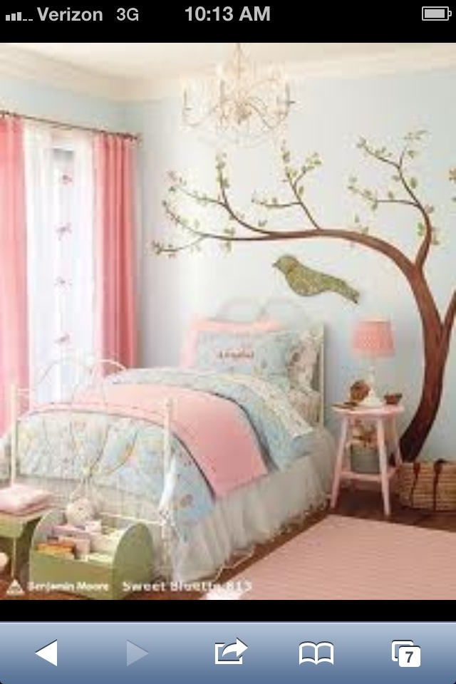 Love bird cages and birds for little girl decor