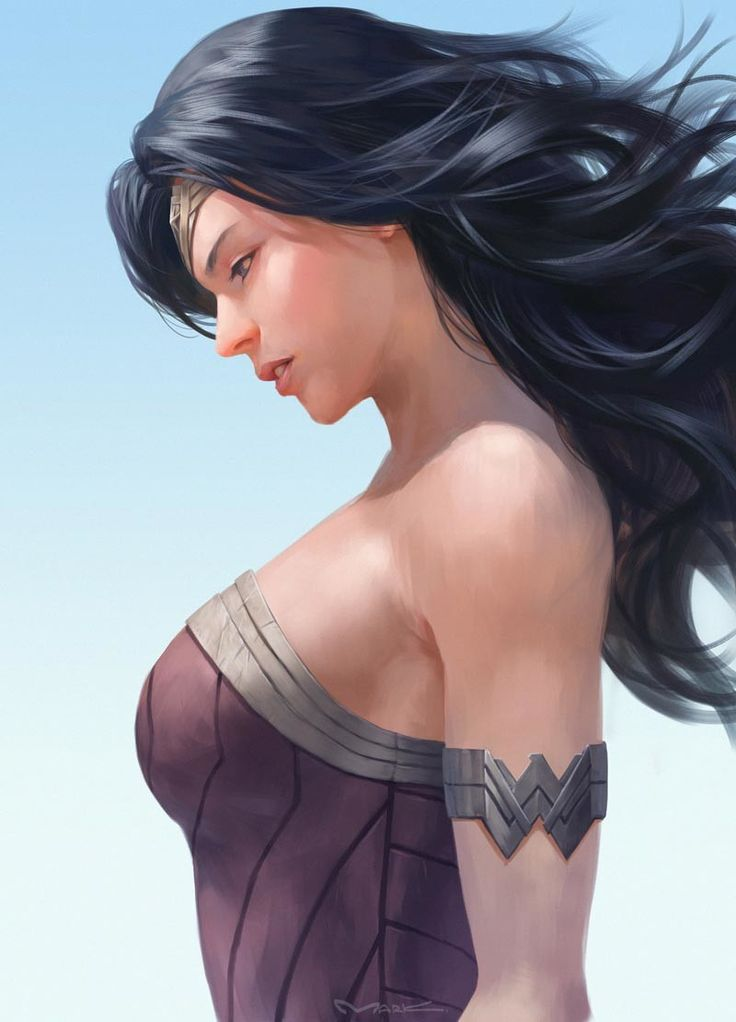 Wonder Woman by Yutthaphong Kaewsuk https://www.artstation.com/artwork/v5Rov