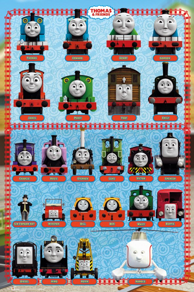 Thomas the Tank Engine Thomas and Friends Characters - Official Poster