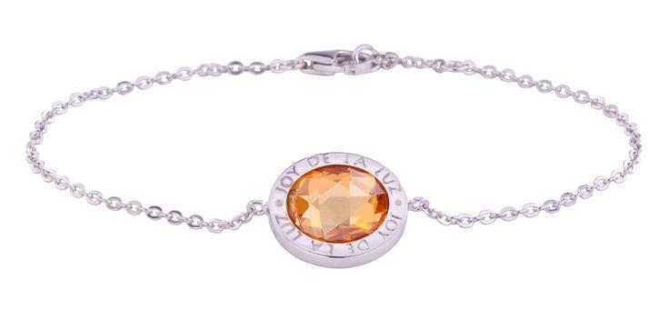 Joy de la Luz   Silver bracelet stone cognac  €69,95