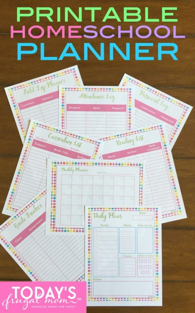 This is an image of Clean Free Printable Homeschool Planner