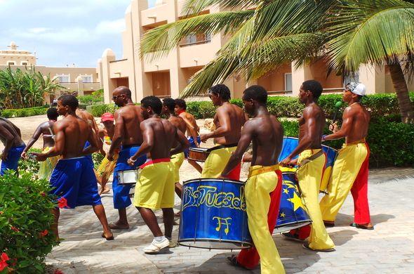 Beach Party - Island Of Sal - Cape Verde - Batucada at Riu Funana