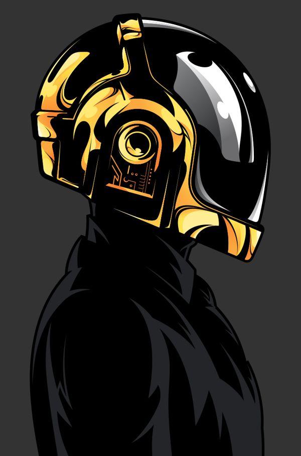 Daft Punk by Salvador Anguiano, via Behance