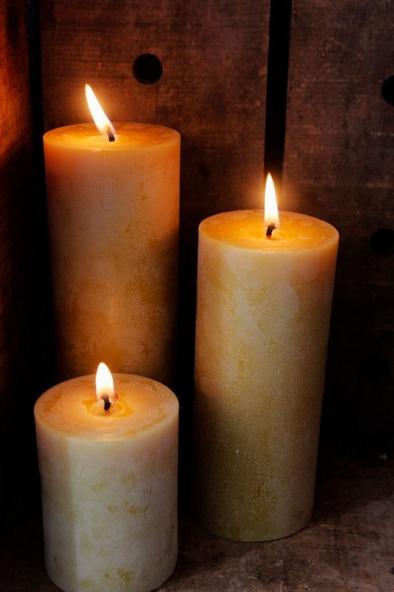Items Similar To 9 Inch Pillar Beeswax Candle Natural Candles Made In Colorado Unity Wedding Emergency On