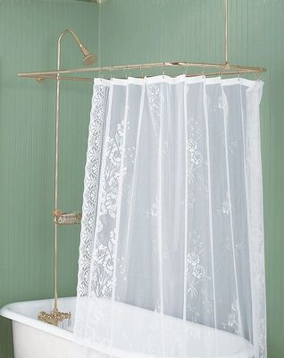 Superb Shower Surrounds Bright Brass Rectangle Surround U0026 Braces Only