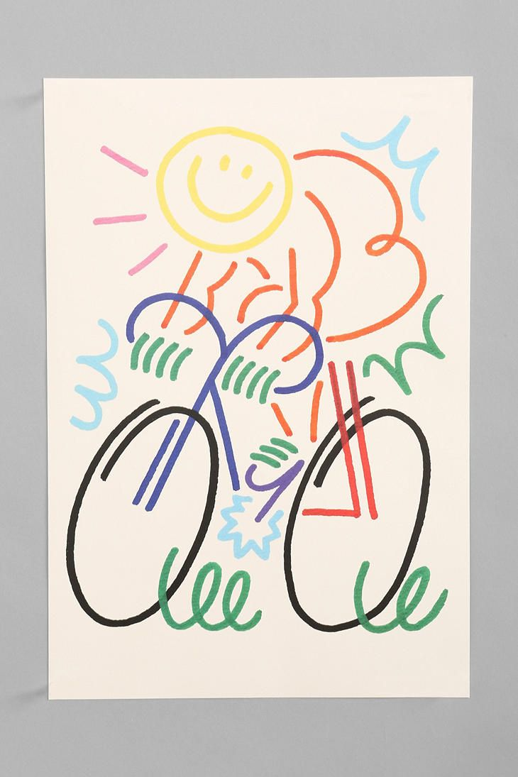 Jordy Van Den Nieuwendijk Figure On Bike Art Print/ http://www.urbanoutfitters.com/urban/catalog/productdetail.jsp?id=28308245=SALE_APT