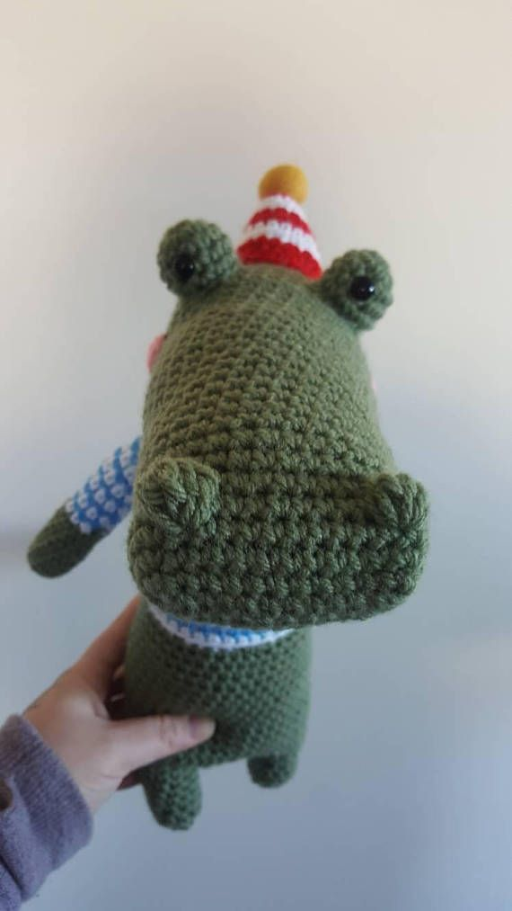 Hey, I found this really awesome Etsy listing at https://www.etsy.com/listing/561844483/handmade-crochet-stuffed-crocodile-party