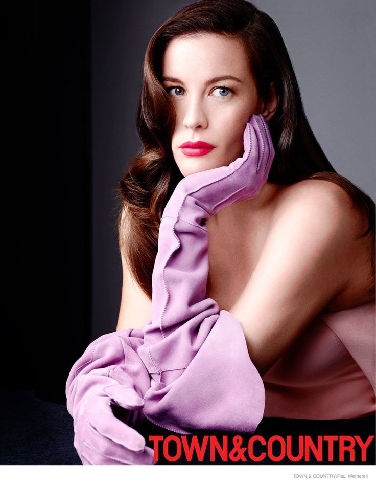 Liv Tyler for Town & Country December 2014/ January 2015
