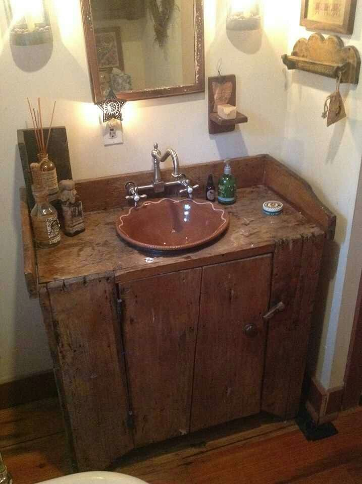 Primtiques antique dresser reposed bathroom for Antique bathroom decorating ideas