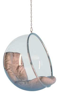 bubble chair armchair hanging armchair clear silver cushions by adelta