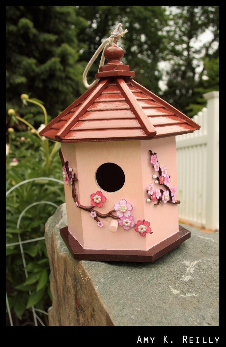 Japanese Pagoda Birdhouse 35 00 Via Etsy Birdhouses