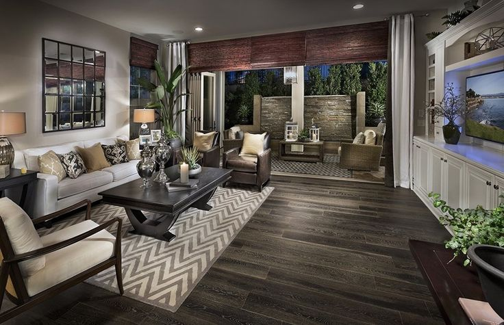 Transitional living room with century furniture lichfield - Hardwood floor living room design ...