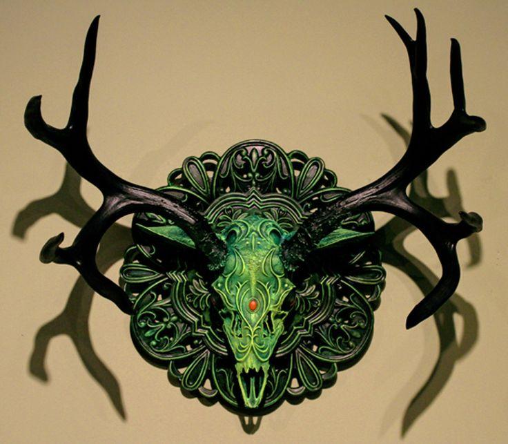 Chris Haas deer skull