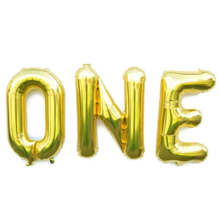 gold one first birthday balloons letter balloons With little letter balloons