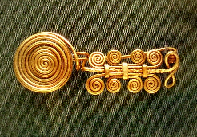 Gold dress ornament, Middle Bronze Age, Hangarian 1600-1200 BC.  British Museum. Photo by Kotomicreations