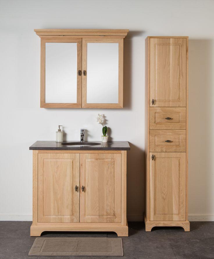 Badkamermeubel jane eik enkel landelijke badkamermeubels for Badkamermeubel ontwerpen