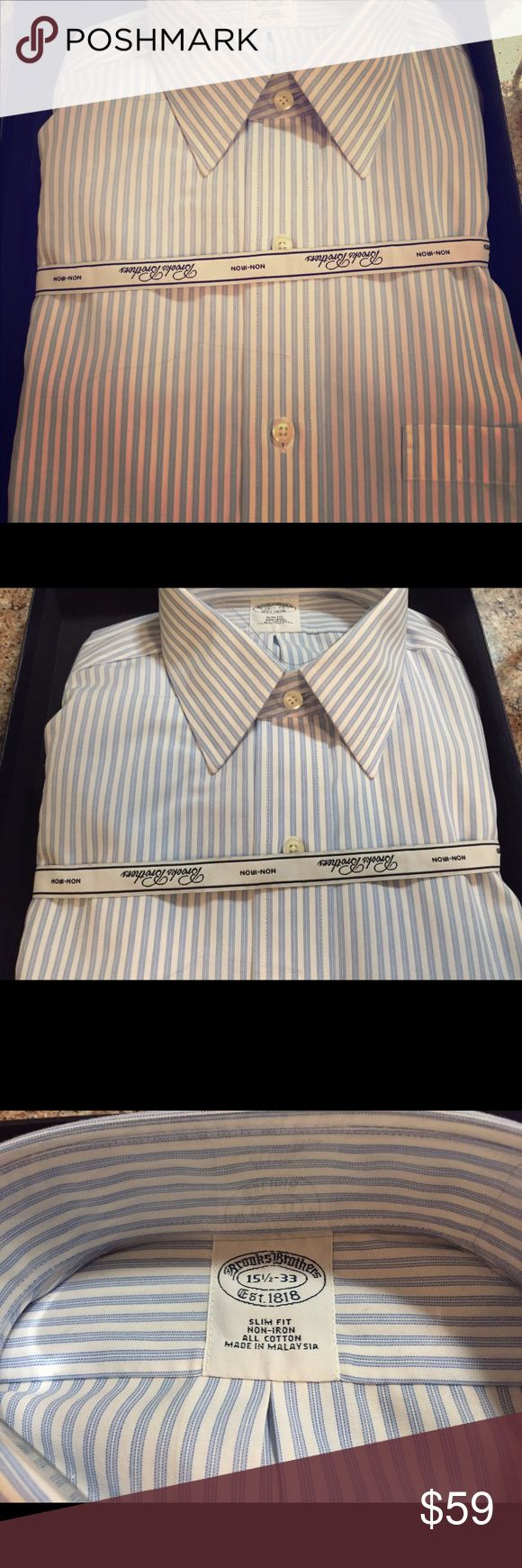 Brooks brothers button down Men's shirt. Brand new never worn! 15.5-33. Brooks Brothers Tops Button Down Shirts