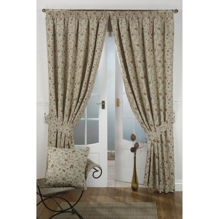The tapestry style floral design of these ready made curtains will complement traditional home interiors well and they are particularly suited to living room windows. These drapes are fully lined and feature a standard pencil pleat heading for use with a track or pole. Please note shade variation may occur due to differences in screen resolution and manufacturer dye lots.