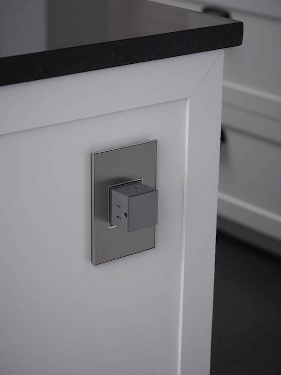 Electrical outlets, push in or have exposed when needed, top or sides plugs @ media.designerpages.com