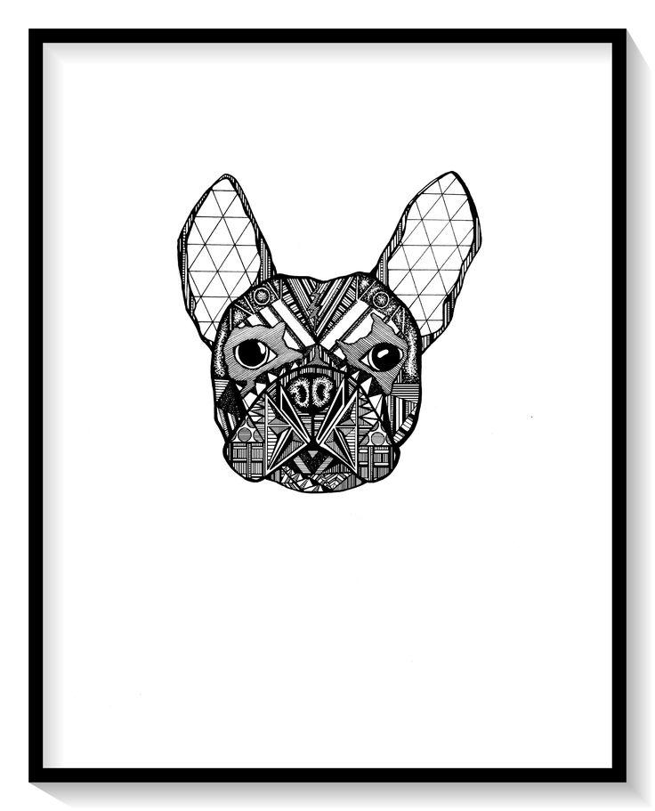 7 besten french bulldog geometric Bilder auf Pinterest | Grafiken ...
