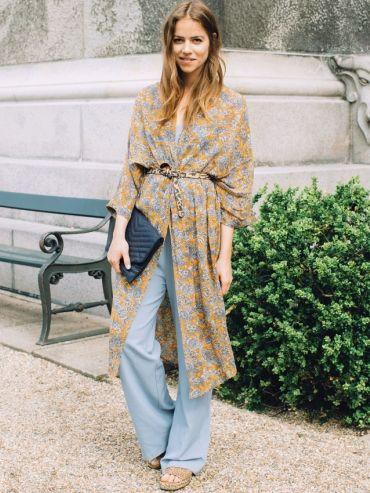 Le kimono long et fluide, le parfait trench de printemps ! (Kimono Ganni - blog…