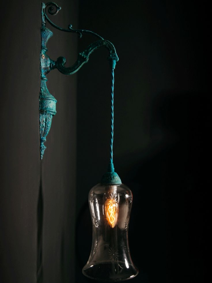 industrial wall light with sulphur blue finish 198 could look quite funky