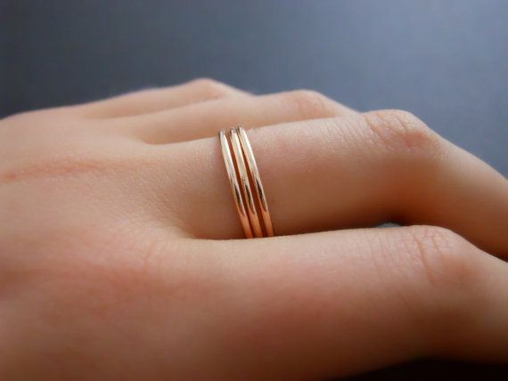 Thin Rose Gold Filled Ring Skinny Rose Gold Ring by annikabella