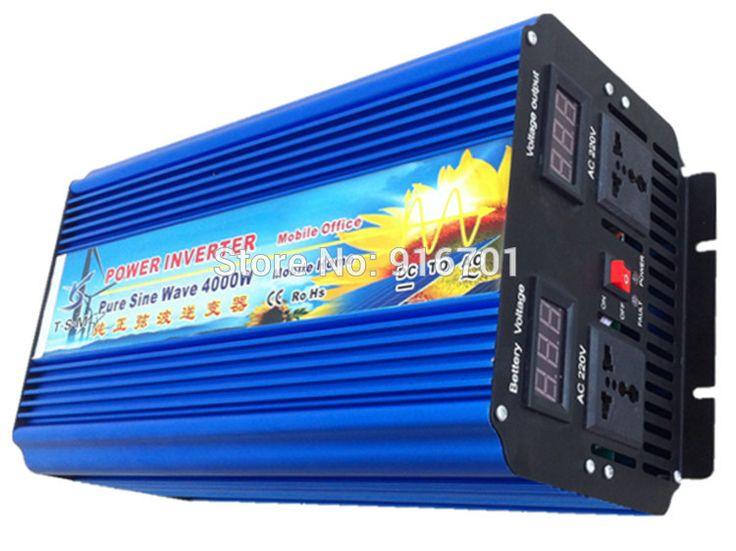 DHL FedEx Free Shipping 4000W/4000W Off Grid Inverter for solar panel, dc to ac Pure sine wave Power Inverter 12V 220V