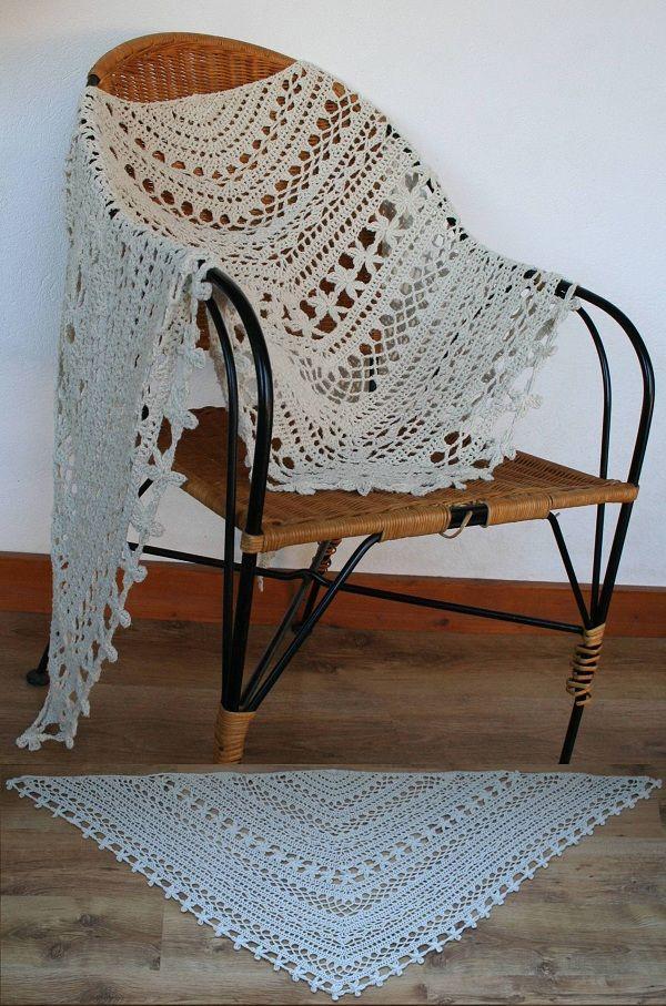 Bohemian crochet shawl, own design (http://www.ravelry.com/projects/Catkinfelt/bohemian-shawl )