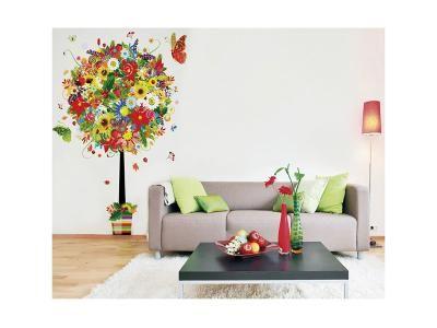 Textilní tapeta, Květinový strom