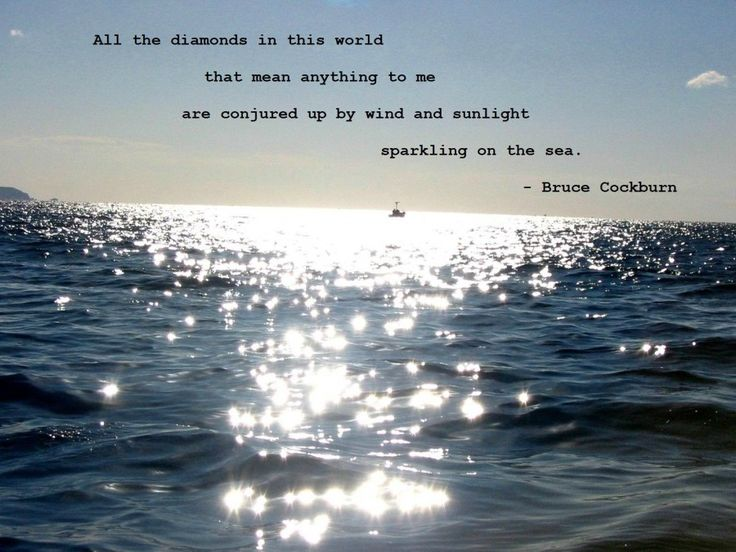 """""""All the diamonds in this world that mean anything to me..."""" - Bruce Cockburn"""