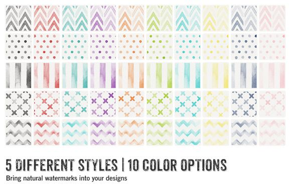 55 Watercolor Patterns