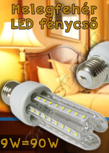 1390 Ft. - Energiatakarékos led fénycső - 9w=~90w / normál e27 foglalatba - Grandbazár