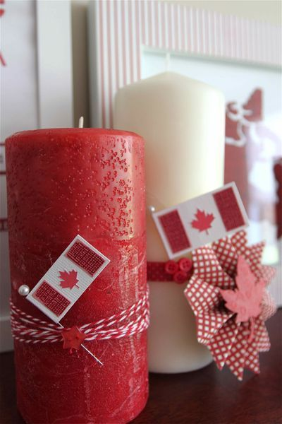 a bunch of decorating ideas for Canada Day