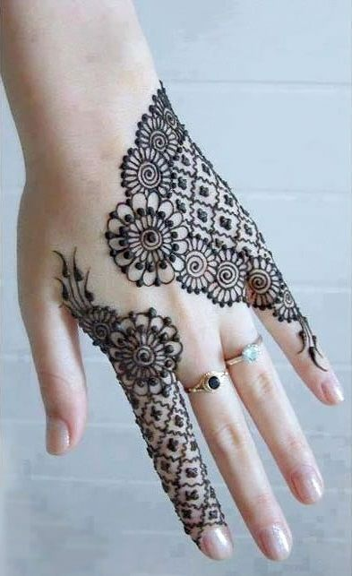 Trendy Back Hand Mehndi
