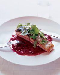 Sautéed Salmon with Rhubarb Marmalade   Food & Wine