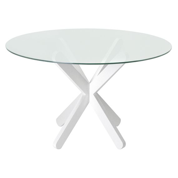 EIXOS MESA REDONDA 122 - Tok&Stok - R$1350,00 Assinado pelo designer francês Alain Blacthé, o design moderno e simplificado da mesa Eixos pode ser uma boa solução para ambientes compactos. Pode ser usada por até 2 pessoas em cozinhas ou salas de jantar com decoração de estilos variados. Produzida em madeira maciça tingida em cores neutras e fáceis de combinar, como branco e tabaco, a base da mesa.